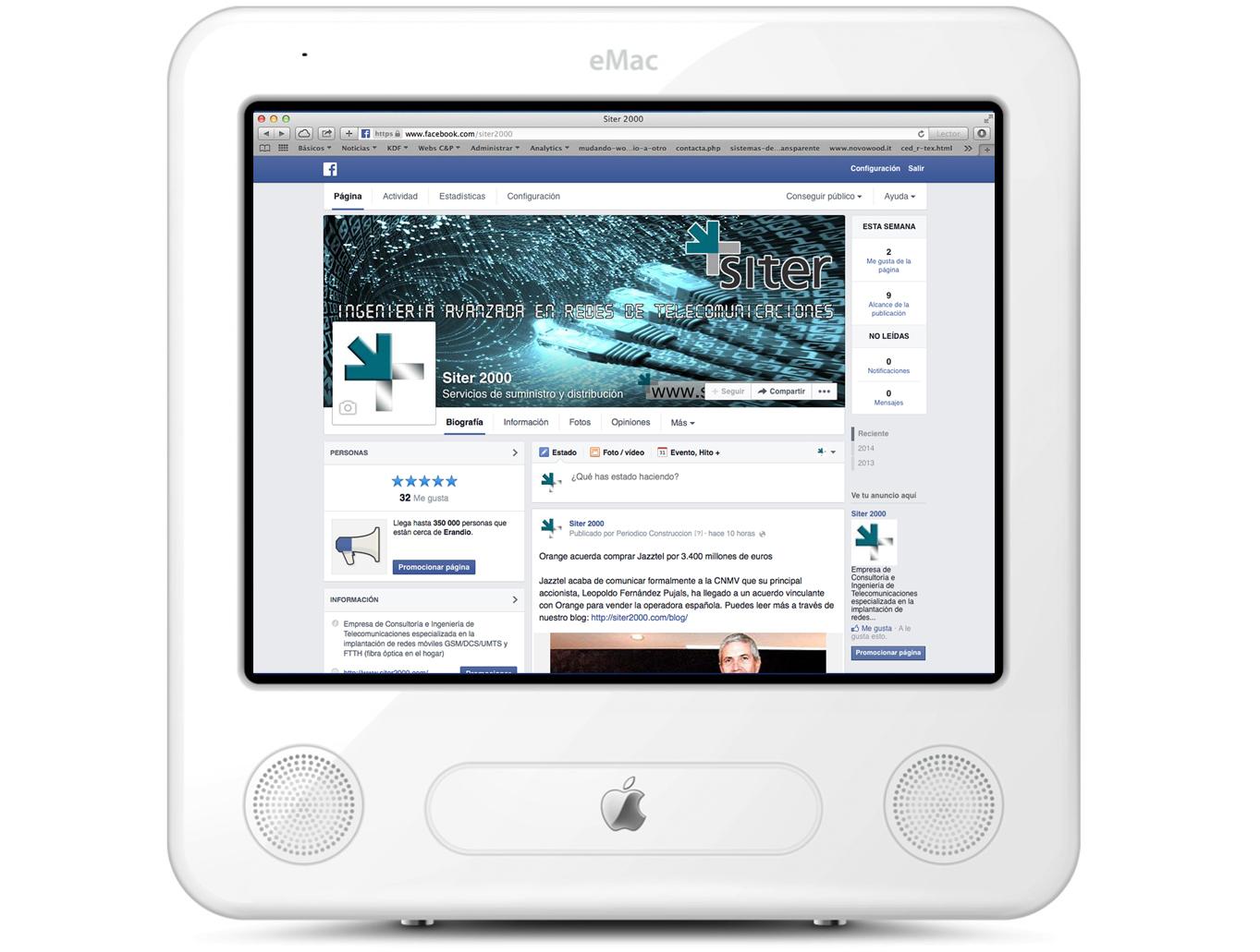 Facebook para Siter 2000