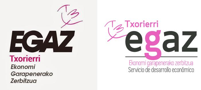 Evolución del logotipo de Egaz Txorierri