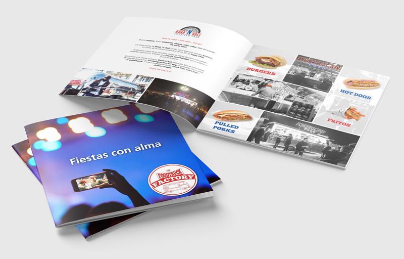 Brochure diseñada para The Food Truck Factory